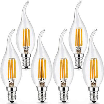 1x/4x 2W 4W 6W 8W E27 E14 LED Edison Filament Candle Globe Light Bulbs Lamp 6