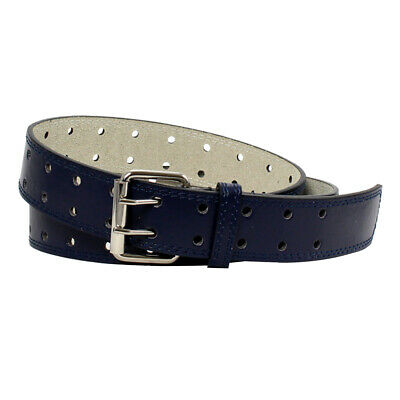 Double Prong 2/Row Full Grain Leather Dress Belt For Men - Available in 4 Colors 3