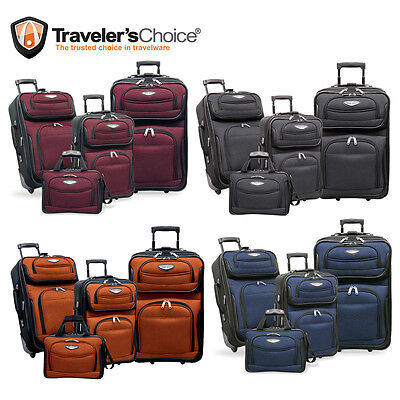 171603701147 ... Travel Select Navy Amsterdam 4-Piece Lightweight Rolling Luggage  Suitcase Set 11