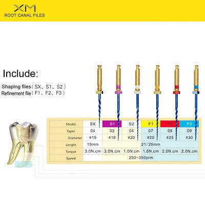 6Pcs/box Blue Dental Heat Activated Niti Endodontic Root Canal Files 25mm Mixed 4