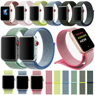 For Apple Watch Series 5/4/3/2 Nylon Sports Loop iWatch Band Strap 38/40/42/44mm 6