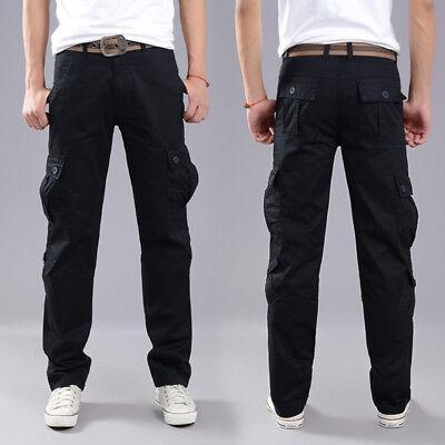 Men's Combat Cotton Cargo Pants Military Camouflage Camo Trousers 4