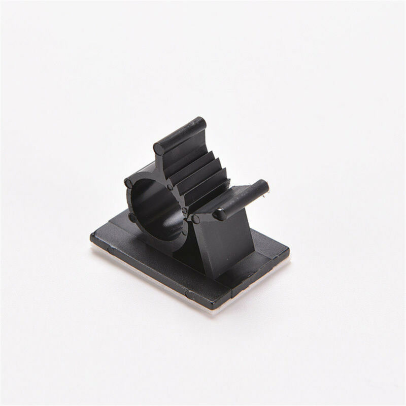 Lot 10pcs Cable Clips Adhesive Cord Management Black Wire Holder Organizer Clamp 10