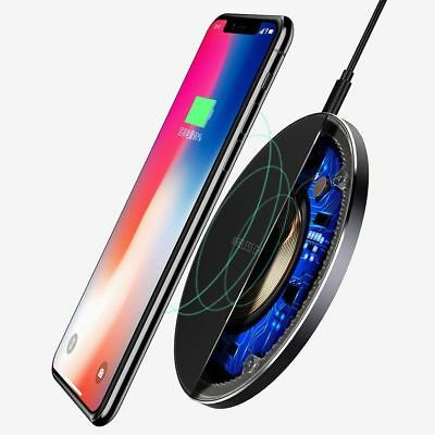 Fast Qi Wireless Charger Dock For iPhone X 8 plus XR XS Samsung S8 S9 plus Note9 3