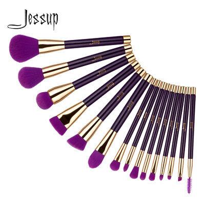 Jessup 15Pcs Powder Foundation Makeup Brushes Set  Eyeliner  Eye shadow Eyelash