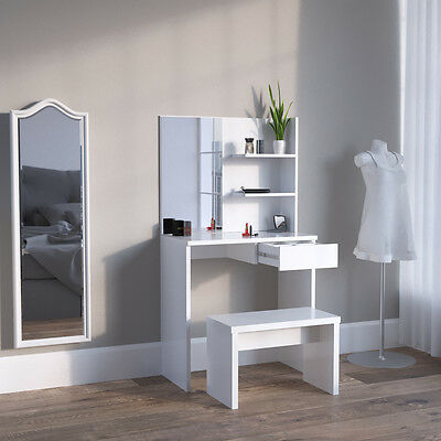 schminktisch kosmetiktisch frisierkommode frisiertisch spiegel wei eur 99 90 picclick de. Black Bedroom Furniture Sets. Home Design Ideas