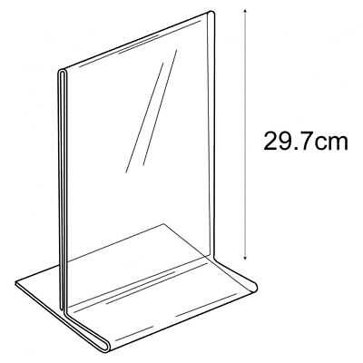 Acrylic A4 Budget Portrait Counter//FreeStanding Angled Menu//Sign Holder