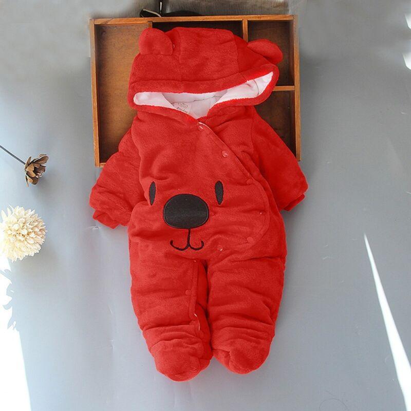 Gb Recién Nacido Bebé de Niña Pelele Terciopelo Traje con Capucha Body Ropa 5