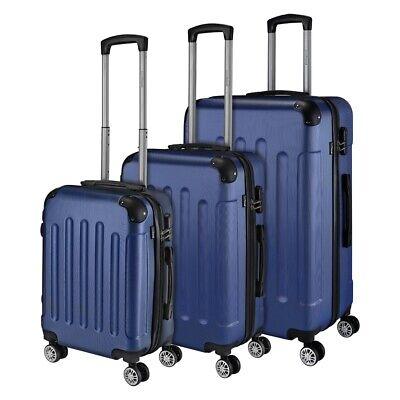 Reisekoffer SET 3tlg. Hartschalen Trolley Handgepäck Kofferset Bordgepäck 3