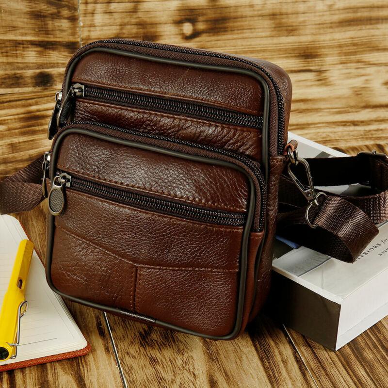 Men Vintage Business Leather Shoulder Bag Messenger Crossbody Handbag Satchel 6