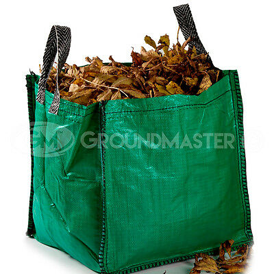 GroundMaster 120L Garden Waste Bags - Heavy Duty Large Refuse Sacks with Handles 2