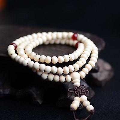Sandalo Buddista Meditazione 6mm 108Preghier Perlina Mala Bracciale/Collana *SP 8