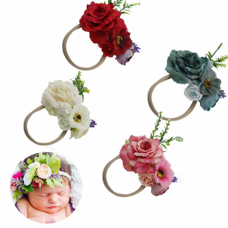 Cute Headband Kid Girls Baby Toddler Flower Hair Band Accessories Headwears Hot 5