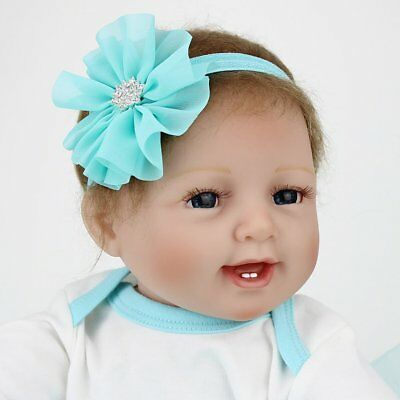 Vinyl Silicone Reborn Doll Real Life Like Looking 22inch Newborn Baby Dolls Gift 3