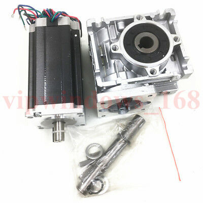 Nema23 Worm Gearbox 7.5:1 Stepper Motor 4.2A 22.5Nm L112mm Speed Reducer CNC 10