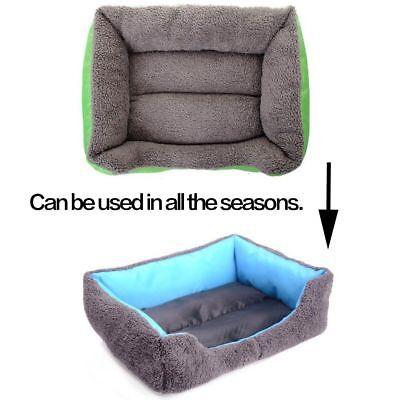 Large soft warm mat pet kennel dog mat cat bed washable candy color square nest 4