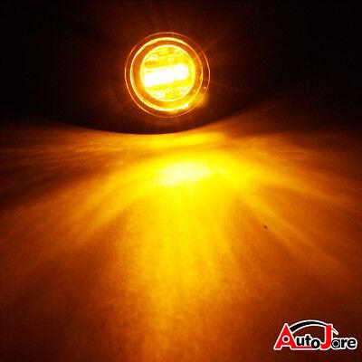 """20X Red + Amber LED Bullet Side Marker Light Flush Mount Truck Trailer 12V 3/4"""" 10"""
