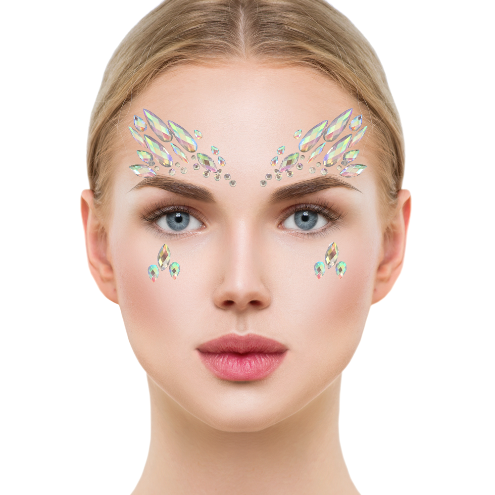 e36803eb0 Face Crystal Sticker Eye Crafted Body Jewels Festival Temporary Tattoo  Glitter 3 3 of 12 ...