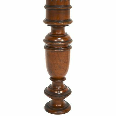 Antique Set of Three French Carved Walnut Architectural Salvaged Pillars