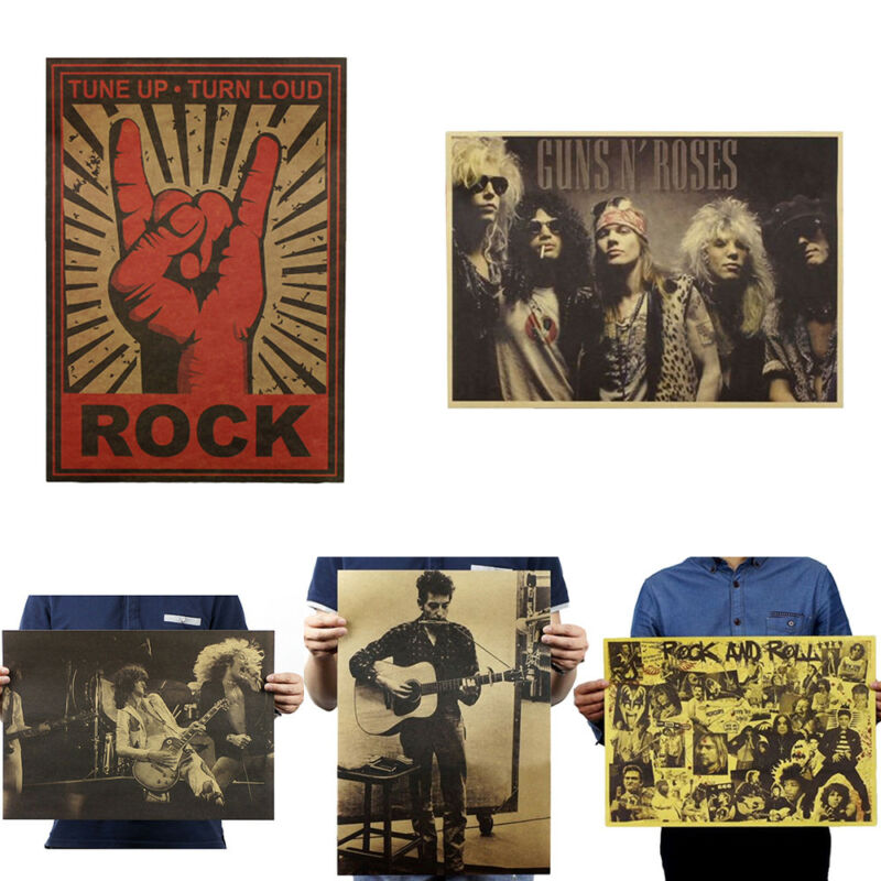 Vintage Music Rock Print Poster Decorative Painting Wall Decor Bar Cafe 2