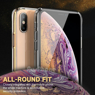 iPhone X XS Max XR 8 7 Shockproof Slim Crystal Clear  Hard Case Cover For Apple 3