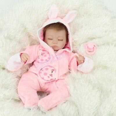 "16"" Sleeping Newborn Vinyl Silicone Reborn Baby Doll Handmade Xmas Gift Girl Toy 4"
