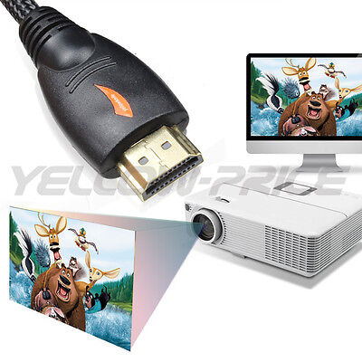 Braided HDMI Cable V1.4 1080P HD HDTV Video Lead 3D Full HD 4K 3M 5M 10M 15M 20M 6