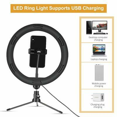 """10"""" LED Ring Light with Stand for Youtube Tiktok Makeup Video Live Phone Selfie 6"""