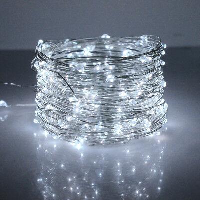 10M 20M Long LED Solar String Lights Waterproof Copper Wire Fairy Outdoor Garden 6