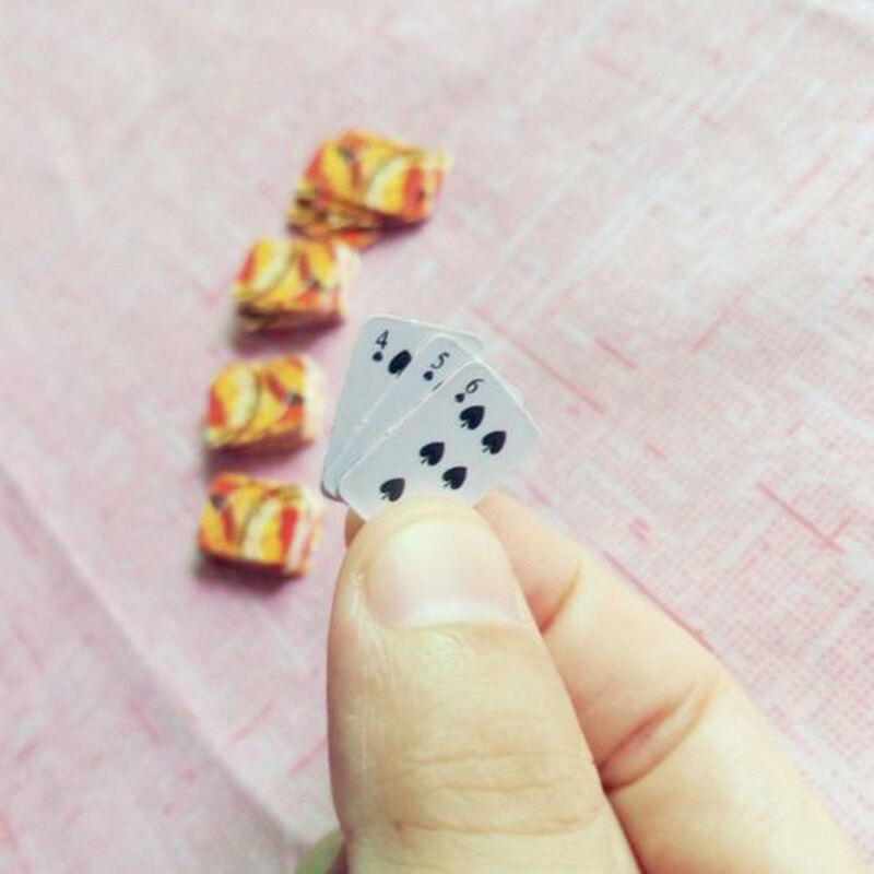 Mini Cute 1:12 Dollhouse Miniatures Poker Home Decoration Poker Playing Cards 6
