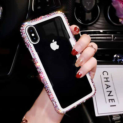 Transparent Clear Bling Diamond Phone Case Cover for iPhone XS Max XR X 8 7 6S