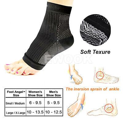 2 Pair Foot Sleeve Plantar Fasciitis Compression Socks Achy Swelling Heel Ankle 9