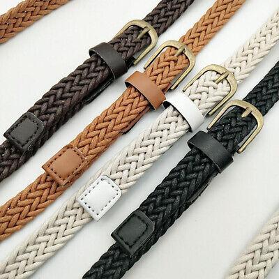 New Fashion Women Braided Girdle Thin Waist Belt Leather Skinny Narrow Waistband 6