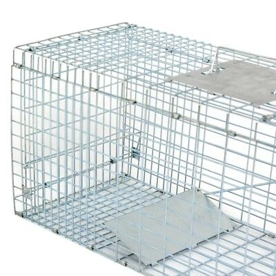 32'' Humane Live Animal Trap 1 Door Rodent Cage for Rabbits Cat Raccoon Squirrel 12