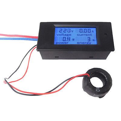 100A AC Digital LCD Power Panel Meter Monitor Power Energy Voltmeter Ammeter NEW 2