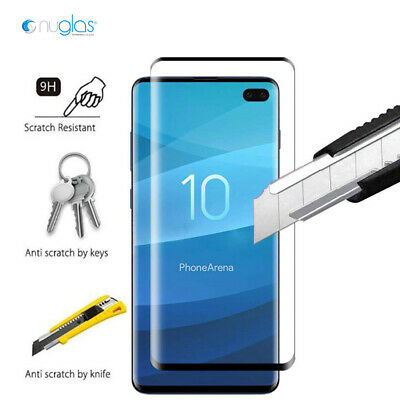 NUGLAS 3D Tempered Glass Screen Protector For Samsung Galaxy S10 S9 S8 Plus S10e 3