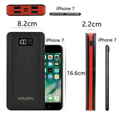 4 USB Fast Charging Greenest Portable Power Bank 500000mAh LED Battery Charger 2