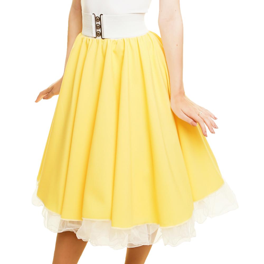GIRLS SANDY SKIRT Plain 1950s Costume Circle Skirt Rock and Roll GREASE COSTUME 2