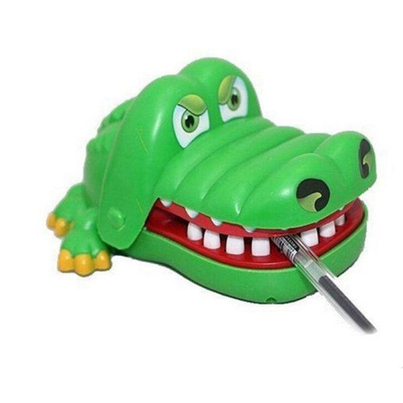 Gift For Kids Children Funny Gags Dentist Bite Finger Game Joke Crocodile Toys 3