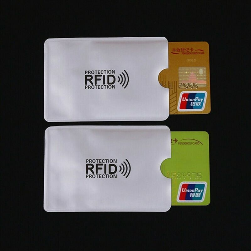 10Pcs RFID Blocking Sleeve Secure Credit Debit Card ID Protector Anti Scan Safet 10