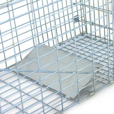 32'' Humane Live Animal Trap 1 Door Rodent Cage for Rabbits Cat Raccoon Squirrel 8