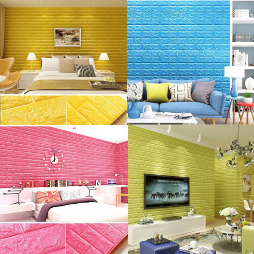 77 70cm rouleau sticker adh sif autocollant mural papier peint 3d brique etanche eur 4 65. Black Bedroom Furniture Sets. Home Design Ideas