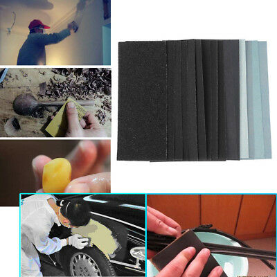 Wet and Dry Sandpaper Any Grit 150-8000 High Quality Sanding Paper Abrasive Tool 9