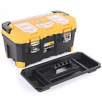 Tool Box Tough Master 22'' With Tray & Compartment Organiser Aluminium Handle 5