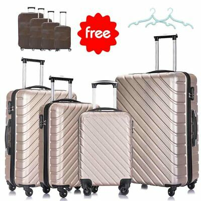 "Set of 5&4&3 Nest Spinner Luggage Set Trolley Suitcase w/Lock 18'' 20'' 24"" 28"" 8"