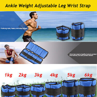 2X Ankle Weights Leg Wrist Adjust Strap Running Boxing Bracelet Gym Yoga Workout 2