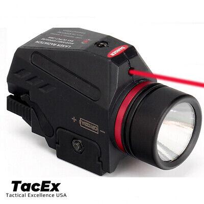 Combo Pistol LED Flashlight Red Laser Sight Fits 20mm Rail Pistol-Rifle 2