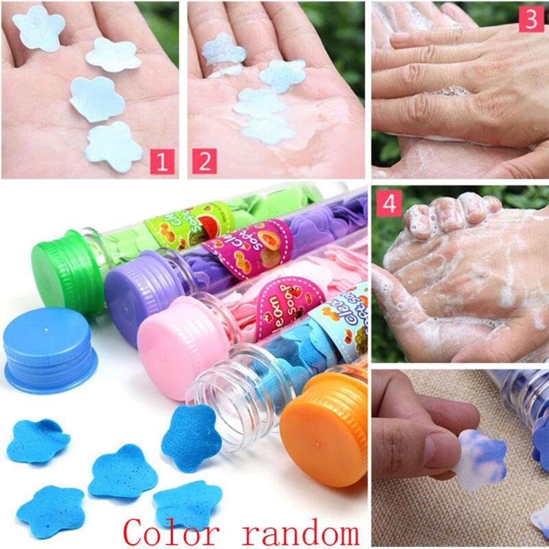 Useful Portable Flower Soap  Petal Bath Shower Skin Care Confetti Foaming Paper