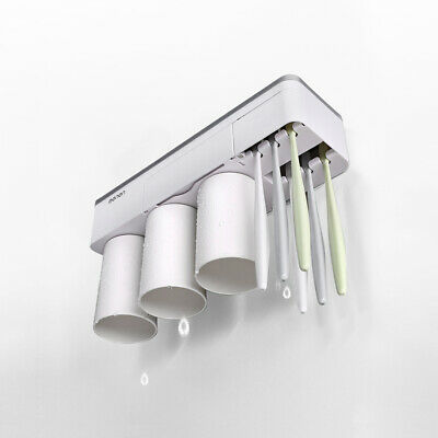 Toothpaste Toothbrush Holder Home Bathroom Wall Mount Stand Storage Rack,3 cups 6