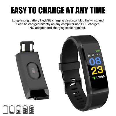 Fitness Smart Watch Activity Tracker WomenMen Kid Fitbit Android iOS Heart Rate# 4